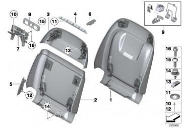 Rückwand Komfortsitz oben LCDH OYSTER     7er 5er  (52107319058)