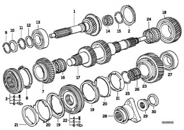 Rollenkranz  5er 3er Z4 Z3 1er  (23221282571)