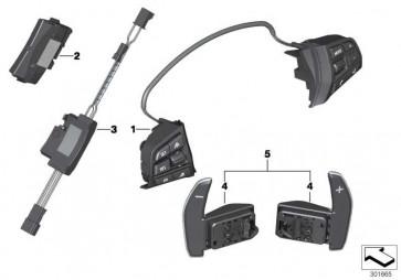 Schalter Multifunktionslenkrad M-Sport  3er 4er 5er 6er  (61317849409)