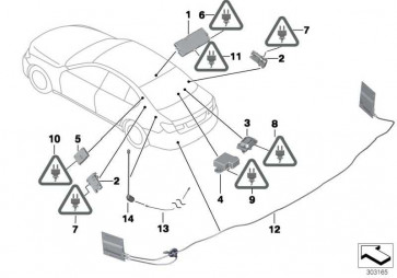 Antennenverstärker Diversity 434 MHZ 7er 5er  (65209346808)