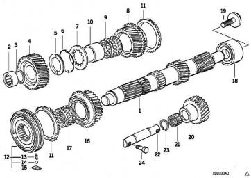 Torxschraube M10X1,5X30      5er 3er Z4 Z3 1er  (23231222866)