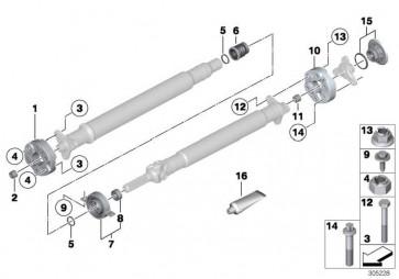 Mittellager Aluminium  7er 5er 6er  (26127588544)