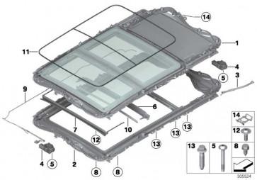 Panoramadach komplett Glas elektrisch ANTHRAZIT       3er  (54107342869)