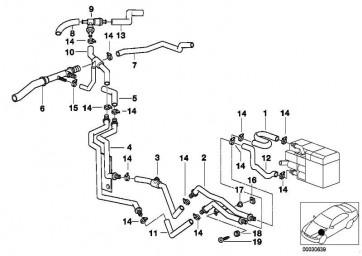 Schlauch Motorvorlauf-Wasserventil  5er  (64218383222)