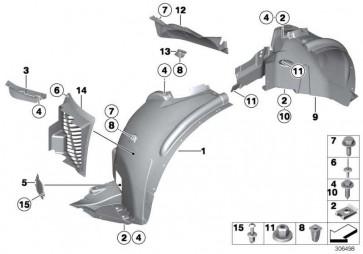 Deckel Luftführung vorne links  X5 X6  (51717163281)