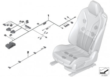 Kabelsatz Sitz links (61129259502)