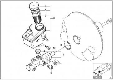 Ausgleichsbehälter mit Warnschalter  3er  (34326750798)
