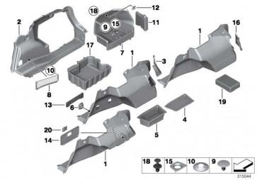 Verkleidung Gepäckraum links  3er  (51476956429)