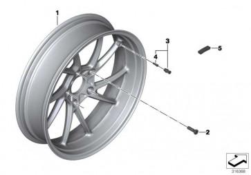 Hinterrad Silber  K52  (36317727235)
