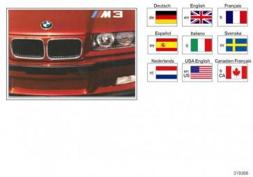 Betriebsanleitung M3 E36/4/2/C DE, MJ 1996     3er  (01409789290)