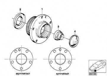 Radnabe asymmetrisch vorne D=97MM          5er 7er 8er  (31211129386)