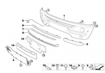 Verkleidung Stossfänger grundiert vorn  MINI  (51116800130)