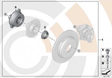 Reparatursatz Radlager hinten VALUE LINE X5 X6  (33412413625)
