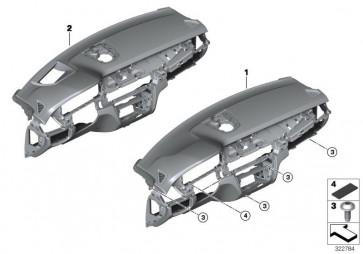 Instrumententafel Head-Up Display SCHWARZ (51459323565)