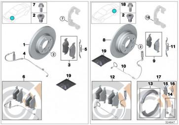 Bremsbelagsatz, Scheibenbremse ATE Ceramic (ATE-13.0470-7215.2)