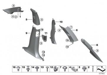 Blende D-Säule oben rechts SCHWARZ         X5  (51437848996)