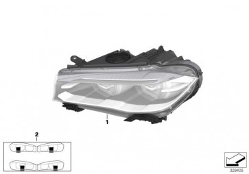 Scheinwerfer Bi-Xenonlicht rechts  X5  (63117317102)