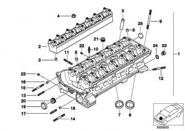 Zylinderkopf mit Lagerleisten  5er 3er  (11121703638)