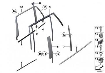 Abdichtung Steg oben links  X1  (51352990563)