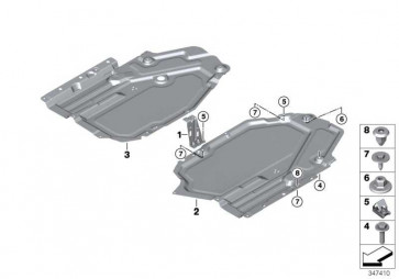 Unterfahrschutz Tank links  X5 X6  (51757325391)