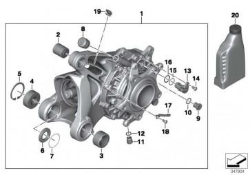 Winkelgetriebe m. Entlüft. schwarz I=33:12=2,75 K27  (33118550164)