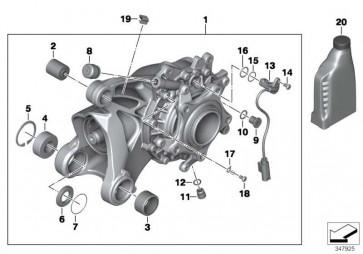 Winkelgetriebe mit Entlüftung silber I=32:11=2,91     (33117726889)