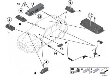 Innenleseleuchte hinten links ANTHRAZIT       X1  (63319202919)