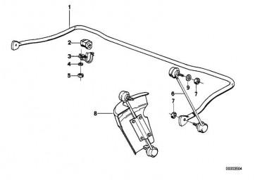 Gummilager Stabilisator D=25MM          5er  (31351140193)