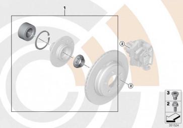 Reparatursatz Radlager hinten VALUE LINE 3er 1er  (33412450406)