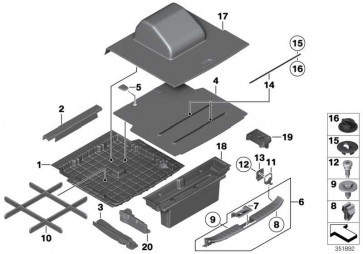 Linsenschraube mit Bund ISA M5X19MM     3er 4er 5er X1 X3 X4  (07146964282)
