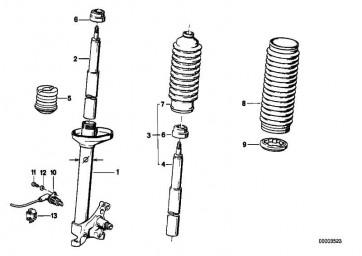 Stossdämpfer-Einsatz BOGE            3er  (31321135892)