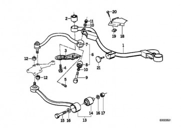 Querlenker links Aluminium  5er 7er  (31121139987)