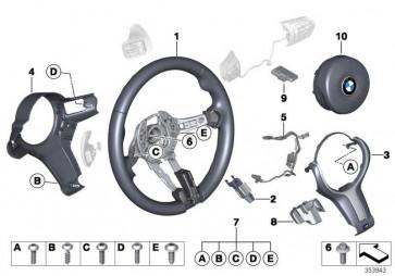 Airbagmodul Fahrerseite  X3 6er 1er 3er 5er 4er X5 2er X4 X6 X1  (32308090024)