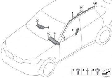Airbag Beifahrer  X5 X6  (72129252310)