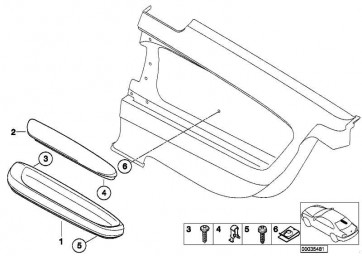 Armstütze Titan II hinten links SCHWARZ         3er  (51437053015)