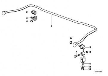Gummilager Stabilisator D=25,5MM        3er Z3  (31351090268)