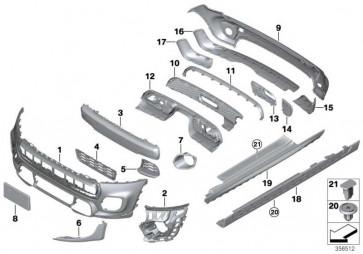 Einsatz Stossfänger hinten JCW / PDC MINI  (51127365144)
