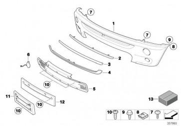 Verkleidung Stossfänger lackiert vorn CODE - UNI/MET. MINI  (51110029955)