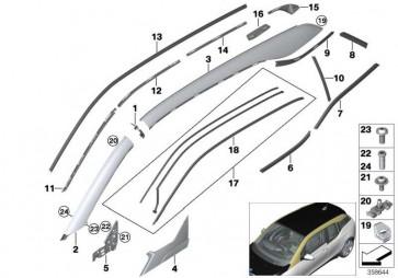 Fugendichtung Dach vorne links  i3  (51127317277)