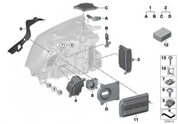 Reparatursatz Scheinwerfer links  X3 X4  (63117401167)
