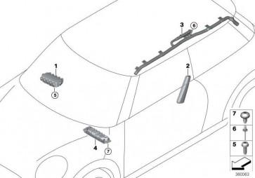 Seitenairbag Sitz vorne links  MINI  (72127312461)