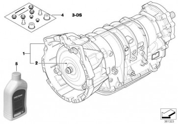 Austausch Automatikgetriebe EH A5S 390R - XC   3er  (24007511019)