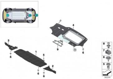 Motorraumabschirmung hinten  i3  (51757305661)
