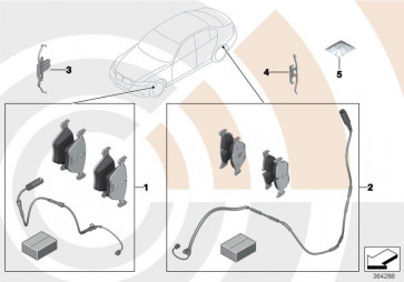 Satz Bremsbeläge mit Bremsbelagfühler VALUE LINE (34212468436)