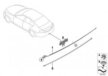 Sensorleitung Smart Opener unten  2er 3er 4er 5er 6er 7er X6  (61357391043)