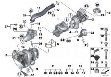 O-Ring 52X5            5er X5 X6 7er  (07119907572)
