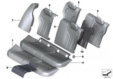 Bezug Sitz Leder hinten SCHWARZ (52208058169)