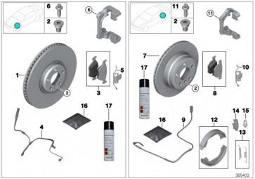 Reparatursatz Bremsbeläge asbestfrei  1er 2er 3er 4er  (34106799801)