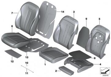 Bezug Komfort Sitz Klimaleder ELFENBEINWEISS (52107450851)