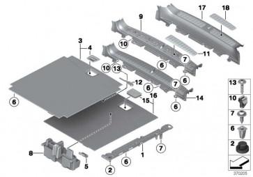 Einlegeboden Gepäckraum ANTHRAZIT       X3 X4  (51477222219)
